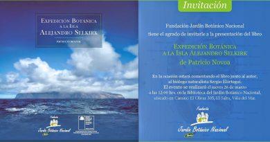 Patricio Novoa presenta libro sobre Flora de Isla Alejandro Selkirk